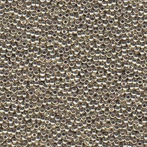 Miyuki Rocailles Perlen 2mm 4201 Duracoat galvanized Silver ca 23,5gr