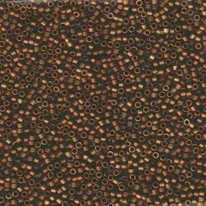 Miyuki Delica Perlen 1,6mm DB1051 matt Metallic rainbow metallic Bronze-Gold 5gr