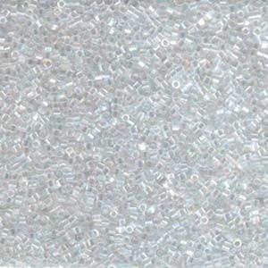 Miyuki Delica Perlen 1,6mm Hexcut DBC0051 transparent rainbow Crystal 5gr
