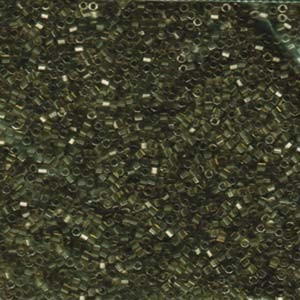 Miyuki Delica Perlen 1,6mm Hexcut DBC0123 transparent luster Light Greyish Olive 5gr