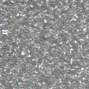 Miyuki Tropfen Perlen 3,4mm 0001 transparent silverlined Clear 10gr