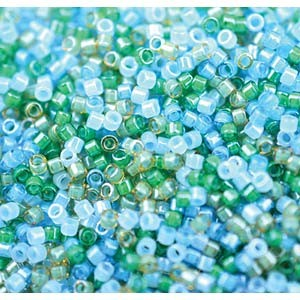 Miyuki Delica Perlen Neon Mix07 1,6mm DB2067 luminous Mermaid Waters ca 5gr