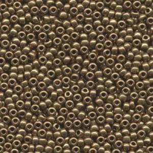 Miyuki Rocailles Perlen 3mm 0457L metallic Light Bronze ca 13gr