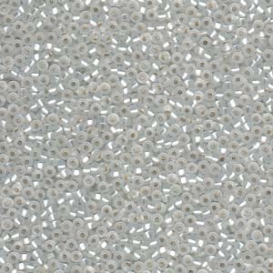 Miyuki Rocailles Perlen 2mm 0001F silverlined matt Crystal ca 12gr