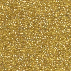 Miyuki Rocailles Perlen 1,5mm 0003 transparent silverlined Gold ca 11gr