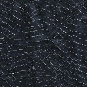 Miyuki Würfel Perlen, Cube, Square Beads 3mm 0401 opaque Black 20gr