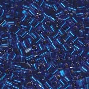 Miyuki Würfel Perlen, Cube, Square Beads 4mm 0019 transparent silverlined Sapphire Blue 20gr