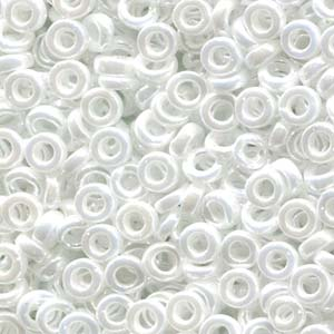 Miyuki Spacer Perlen 2,2X1mm opaque luster White ca 10 gr
