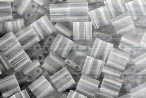 Miyuki Tila Perlen 5mm Crystal Matt Transparent TL0131F 7,2gr