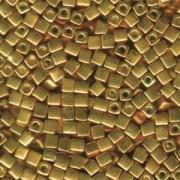 Miyuki Würfel Perlen, Cube, Square Beads 1,8mm 1053 Galvanized Gelb Gold 12gr