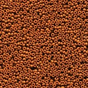 Miyuki Rocailles Perlen 2mm 4458 Duracoat opaque dyed Red Brown ca 12gr