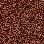 Miyuki Rocailles Perlen 2mm 4459 Duracoat opaque dyed Brown ca 12gr