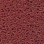 Miyuki Rocailles Perlen 1,5mm 4469 Duracoat opaque dyed Red ca 11gr