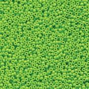 Miyuki Rocailles Perlen 2mm 4471 Duracoat opaque dyed Neon Green ca 12gr