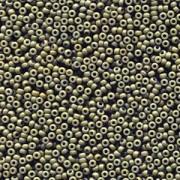 Miyuki Rocailles Perlen 2mm 4474 Duracoat opaque dyed Forest ca 12gr
