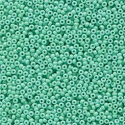 Miyuki Rocailles Perlen 1,5mm 4475 Duracoat opaque dyed Turquoise ca 11gr