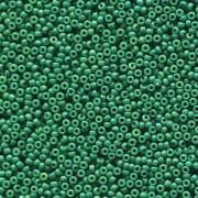 Miyuki Rocailles Perlen 2mm 4477 Duracoat opaque dyed Deep Green ca 12gr