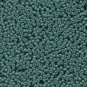 Miyuki Rocailles Perlen 2mm 4481 Duracoat opaque dyed Blue Grey ca 12gr