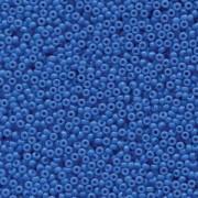 Miyuki Rocailles Perlen 2mm 4484 Duracoat opaque dyed Bright Blue ca 12gr