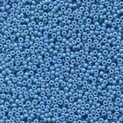 Miyuki Rocailles Perlen 2mm 4485 Duracoat opaque dyed Dark Blue ca 12gr