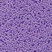 Miyuki Rocailles Perlen 1,5mm 4488 Duracoat opaque dyed Pale Purple ca 11gr