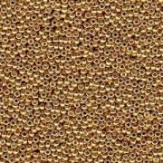 Miyuki Rocailles Perlen 3mm 4202 Duracoat galvanized Gold ca 22gr
