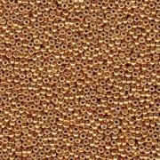 Miyuki Rocailles Perlen 2mm 4203 Duracoat galvanized Yellow Gold ca 23,5gr