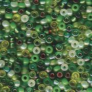 Miyuki Rocailles Perlen 2mm Mix03 Evergreen ca 24Gr.