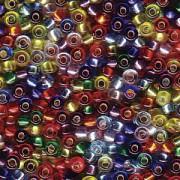 Miyuki Rocailles Perlen 2mm Mix38 Silverlined Rainbow ca 24 Gr.