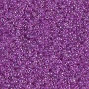 Miyuki Rocailles Perlen 1.5mm 2202 magentalined rainbow Crystal ca 11gr