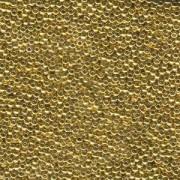 Miyuki Rocailles Perlen 4mm 193 24Karat light Gold Plated 20gr