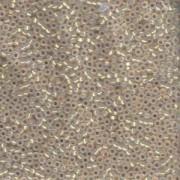 Miyuki Rocailles Perlen 1,5mm 0196 gold lined Opalglas ca 11gr