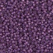 Miyuki Rocailles Perlen 1,5mm 4248 Duracoat Silverlined Amethyst ca 11gr