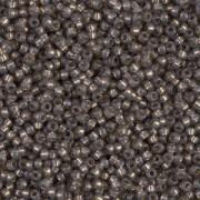 Miyuki Rocailles Perlen 1,5mm 4250 Duracoat Silverlined Charcoal ca 11gr