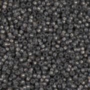 Miyuki Rocailles Perlen 1,5mm 4251 Duracoat Silverlined dark Charcoal ca 11gr