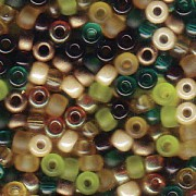 Miyuki Rocailles Perlen 3mm Mix07 Earthtone ca 22gr