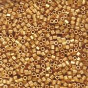 Miyuki Hexagon Perlen 8C-0191F 3mm metallic matte 24 Karat vergoldet 11gr