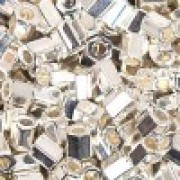 Miyuki Hexagon Perlen 8C-0961 3mm bright Sterling Silver plated 11gr