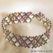 Miyuki Bead Jewelry Kit BFK 34 Net Pattern Bracelet
