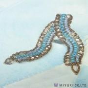 Miyuki Bead Jewelry Kit BFK 69 Blue Surge Bracelet