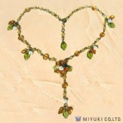 Miyuki Bead Jewelry Kit BFK 72 Orange Flower Necklace