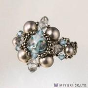Miyuki Bead Jewelry Kit BFK 77 Smoky Sapphire Ring