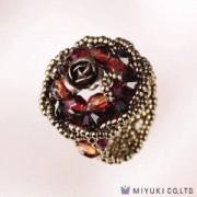Miyuki Bead Jewelry Kit BFK 80 Rote Rose Ring