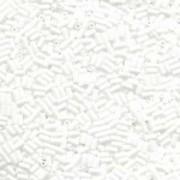 Miyuki Stäbchen Perlen Bugle Beads 6mm 0402 opaque White 10gr