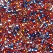 Miyuki Delica Perlen 1,6mm Mix38 silverlined Rainbow 7,2 Gr.