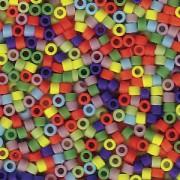 Miyuki Delica Perlen 1,6mm Mix42 matte Rainbow 7,2 Gr.