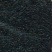 Miyuki Delica Perlen 2,2mm DBM0003 metallic rainbow Olive Blue 7,2 Gr.