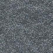 Miyuki Delica Perlen 1,6mm DB0081 Lined Dark Grey AB 5gr