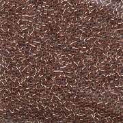 Miyuki Delica Perlen  1,6mm DB0037 inside colorlined Crystal Copper 5gr