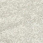 Miyuki Delica Perlen  1,6mm DB0066 inside colorlined Crystal White 5gr